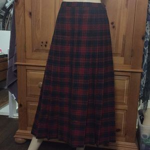 Vintage Pendleton Wool Midi Tartan Skirt Size 6